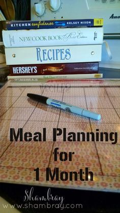 Planning meals for one month can be very simple. It will save you so much time in the long run. Simple steps on how to make the process easier.