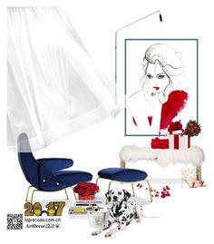 """Untitled #109"" by annie-qiu on Polyvore featuring interior, interiors, interior design, home, home decor, interior decorating, Arflex, Gianvito Rossi, WALL and Eichholtz"