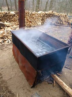 """~Ohio Thoughts~: Maple Syrup Making """"2013 Maple Sugaring is proving to be a good year, the sap is running well and the syrup is turning out a beautiful golden color."""""""