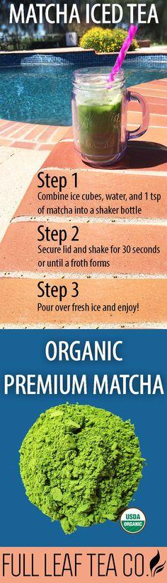 Make the best matcha iced tea with Full Leaf's Organic Premium Matcha! #matchastrong