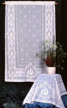 Victorian Cherub Nottingham Curtain: 50% OFF direct from London Lace: London Lace we specializing in the finest Scottish and Madras lace curtains and products like Victorian Cherub Nottingham Curtain: 50% OFF.