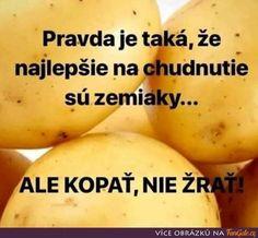 Pravda je taková, že nejlepší na hubnutí jsou Cantaloupe, Ale, Potatoes, Jokes, Banana, Vegetables, Fruit, Funny, Food