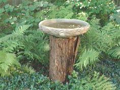 Rustic Bird Baths | Garden Crafts & Garden Decor