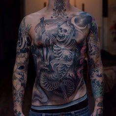 Grim Reaper Tattoo many Details