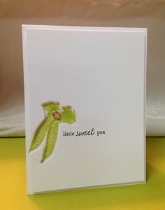 Little Sweet Pea baby card
