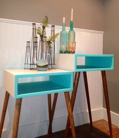 Mid Century Modern Side Table by 4andFor on Etsy, $175.00