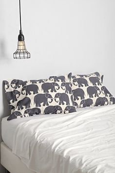 Magical Thinking Elephant Print Pillowcase Set - Urban Outfitters