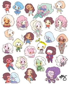 Chibi gems steven universe know your meme Steven Universe Kawaii, Steven Universe Peridot, All Steven Universe Characters, Malachite Steven Universe, Steven Universe Stickers, Steven Universe Wallpaper, Steven Universe Drawing, Cartoon Network, Stickers Kawaii