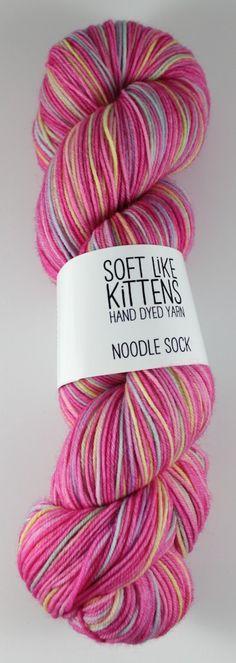 Fairy Cake - Noodle Sock hand dyed yarn 100g - batch 2. $24.00, via Etsy.