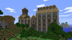 Well designed countryside manor in minecraft Minecraft City Buildings, Minecraft Houses, Minecraft Designs, Minecraft Creations, Minecraft Small Castle, Small Castles, Roof Design, Creative Inspiration, Countryside
