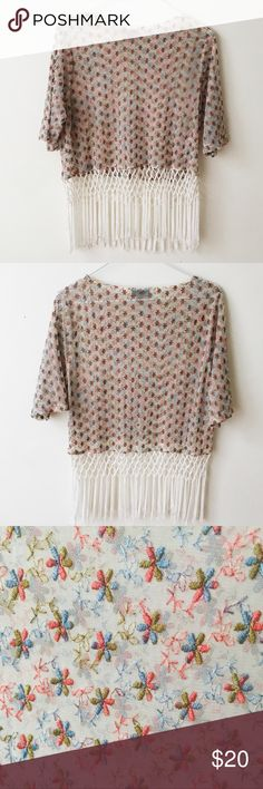 95b929ba193 Topshop sheer floral crop top size 4 Perfect for a concert or festival  look! Sheer