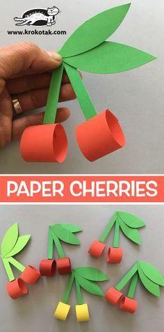 Diy Paper Crafts For Kids Children Ideas Paper Crafts For Kids, Diy Paper, Projects For Kids, Diy For Kids, Paper Crafting, Diy And Crafts, Arts And Crafts, Fruit Crafts, Papier Diy