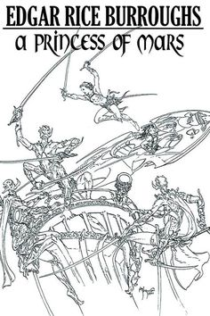 Early art for Princess of Mars illustrated by Michael Kaluta