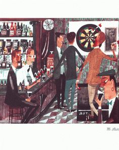 """Time for a Pint"" by Miroslav Sasek"