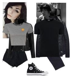 """""""-walks around late at night-~Blair & Rustin (Serial Killers that escaped jail)"""" by kahumphh-anon ❤ liked on Polyvore featuring Converse, Geox and Dolce&Gabbana"""
