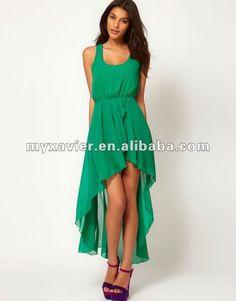 Modelos de vestido corto adelante y largo atras