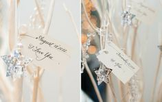 Subtle, but impactful decorations with  important dates in the couple's lives. How romantic!