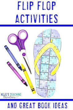 Flip Flop Activities for Kids Back To School Activities, Math Activities, Practice Math Problems, Fast Finishers, 5th Grade Classroom, Critical Thinking Skills, Basic Math, Book Suggestions, Math Concepts