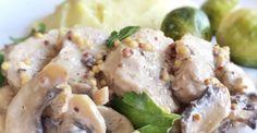 Polędwiczki wieprzowe w sosie musztardowo-pieczarkowym