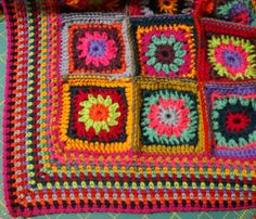 Gypsy Rose, my crochet blanket, is coming along … I shared the beginning of our journey together last week (here) and I just adore the circle into square pattern that I ended up with – …
