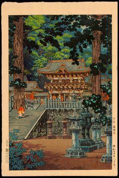 Koitsu, Tsuchiya (1870-1949) - The Gate Yomei, the Nikko Shrine - 日光陽明門