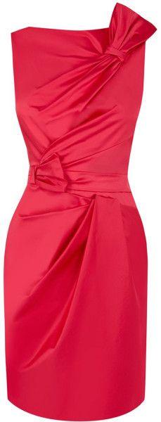 Karen Millen Red Cute Colourful Mini Dress
