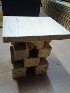 Amazing Pallet Blocks Side Table | 99 Pallets