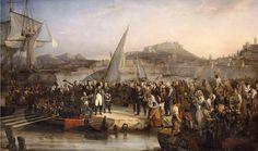 Napoleón abandona la isla de Elba