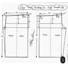 [공유] 양재_바지3종(사쥬다양)_그림도안 : 네이버 블로그 Envelope, Pants Pattern, Floor Plans, Sewing, Patterns, Dressmaking, Envelopes, Couture, Stitching