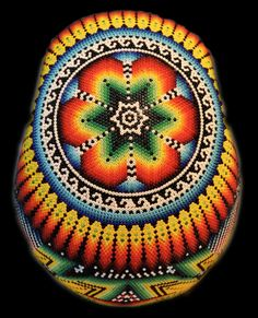 Beautiful for bowl design Andy Warhol, Huichol Art, Wessel, Art Therapy Projects, Cow Skull, Beaded Skull, Shops, Mexican Folk Art, Native American Art