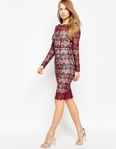 Body Frock | Body Frock Lisa Scuplting Lace Bodycon Dress at ASOS