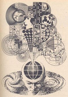 Nikolai Lutohin, science fiction illustrations from the of Yugoslavia - Famous Magazin Arte Sci Fi, Art And Illustration, Sci Fi Kunst, Art Science Fiction, Pulp Fiction, Theme Tattoo, 70s Sci Fi Art, Esoteric Art, Occult Art
