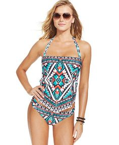 Becca Aztec-Print Tankini Top & Hipster Brief Bottom
