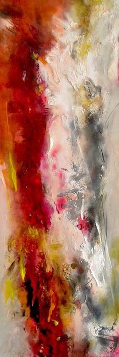 "Saatchi Online Artist: Dees Goosen; Mixed Media 2013 Painting ""Achtergelaten land 1"""
