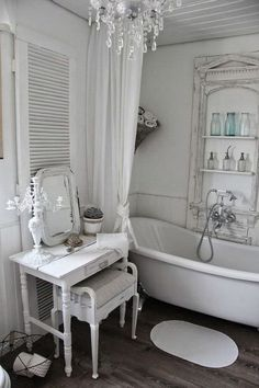Shabby Chic home decor examples number 2951338522 for for a really smashing, sweet room. Why not stop by the diy shabby chic decor ideas link at once for additional hints. Shabby Chic Dresser, Shabby Chic Dressing Table, Shabby Chic Bathroom, Chic Decor, Chic Bathrooms, Chic Bathroom Decor, Shabby Chic Furniture, Shabby Chic Room, Chic Home Decor