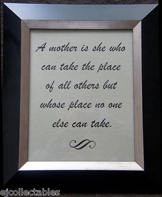 """Mother's Day Quote Canvas Board Picture 8""""x10"""" Gift Inspiration A mother is she"""