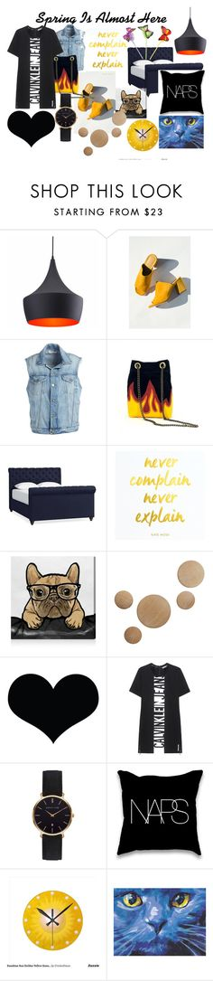 """""""Spring"""" by alitrends on Polyvore featuring Zuo, Maryam Nassir Zadeh, Frame, Pottery Barn, Oliver Gal Artist Co., Design Within Reach, Calvin Klein Jeans, Abbott Lyon and Spring"""