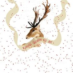 Watercolor deer - design of print by @Graphicsauthor