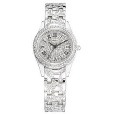 Bring out the fashion sense within you wearing this luxury design watch. The classic dial gives a clean, classy look to this quartz watch. Crystal Decor, How To Look Classy, Luxury Watches, Quartz Watch, Michael Kors Watch, Swarovski Crystals, Classic, How To Wear, Accessories