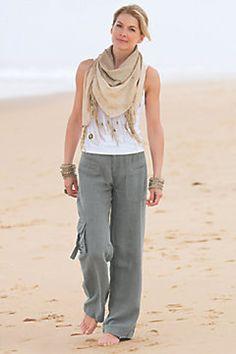 4c4af8604a4 Petites Weekend Linen Pants Summer Pants Outfits