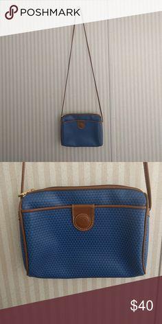 d648e7f55f Vintage 1983 Liz Claiborne Crossbody Super cute vintage crossbody purse!!  Blue with authentic brown
