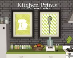 Just some simple kitchen-themed prints on the BV Travel Poster mesh, that I adore, because it has loads of add-ons with different frame options :D Credits: Prints by TexturedINK on Etsy Swatch is also...