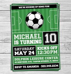 Free Football Party Invitation Template Unique soccer Football Birthday Party Invitations for Kids Party