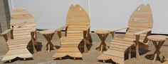 Fish Adirondack Chairs by TheCarpentersCabin on Etsy, $215.00
