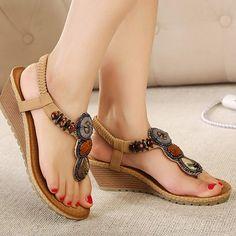 cce2e9cf08f979 Women Casual Summer Sandals Vintage Fashion Beach Sandals – Ozzy Bella All  Great Apparel Beach Flip