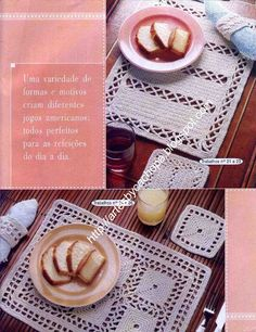 Artes by Cachopa - Croche & Trico: Jogo americano