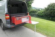 Removable camper-van kitchen pods for VW vans & all other types of vans. Vw Transporter Campervan, Vw T5, Volkswagen, Camper Van Kitchen, Van Dwelling, Vw Caravelle, Day Van, Campervan Interior, Diy Kitchen