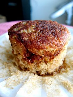 Applesauce Muffins - Made this into a loaf.  Turned out to be super moist and delicious!  I left out the sugar on top and added nuts and oats instead.  Perfect breakfast food for weekdays!