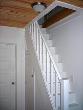 30 clever loft stair for tiny house ideas - Dachboden Loft Staircase, Attic Stairs, Staircase Design, Stair Design, Basement Stairs, Spiral Staircases, Basement Ideas, Attic Organization, Attic Storage
