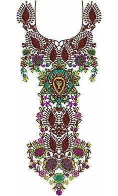 Latest Arabic Kameez Neck Designs